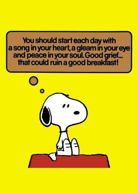 Vintage Snoopy magazine cover poster - Start each day with a song in your heart