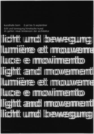 Vintage Swiss art Exhibition poster - 1965