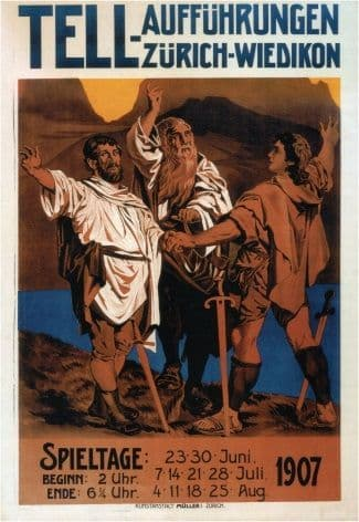 Vintage Swiss poster - Tell 1907