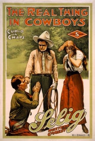 Vintage The Real Thing in Cowboys Poster