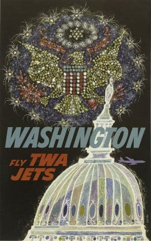 Vintage Trans World Airlines, Washington, United States Poster.