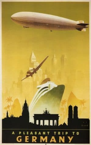 Vintage Travel Poster A Pleasant Trip to Germany
