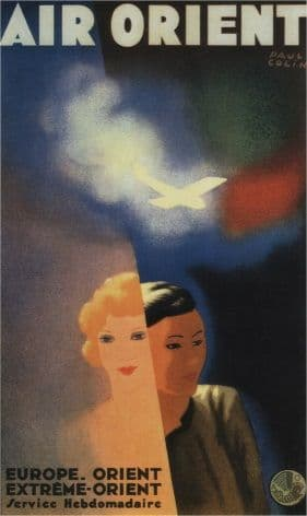Vintage Travel Poster Air Orient
