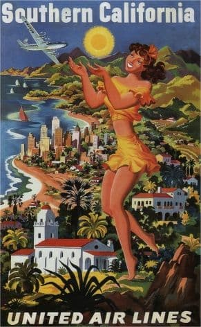Vintage Travel Poster California