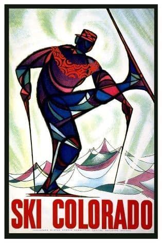 Vintage Travel Poster Colorado
