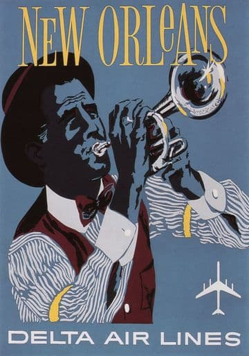 Vintage Travel Poster New Orleans