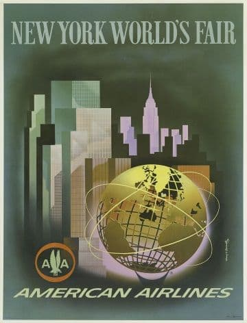 Vintage Travel poster, New York USA