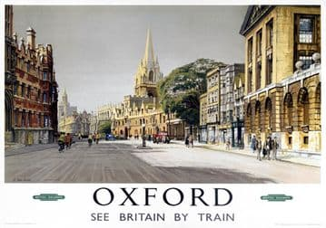 Vintage Travel Poster Oxford London