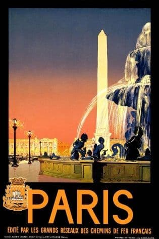 Vintage Travel Poster Paris France
