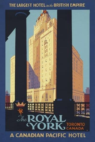 Vintage Travel Poster Royal York Canada