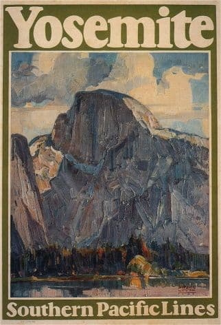 Vintage Travel Poster Yosemite -Southern Pacific