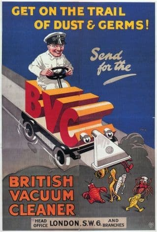 Vintage Vacuum Cleaner Advertising Poster