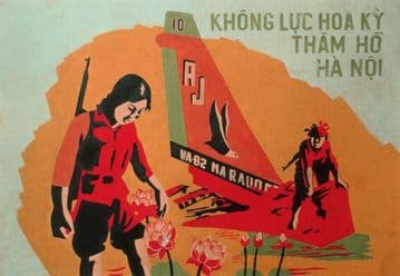 Vintage Vietnam Propaganda, Air Force Poster.
