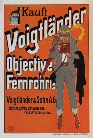 Vintage Voigtlander Camera Advertising Poster