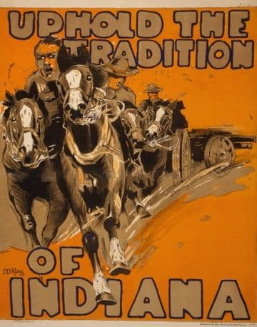 "Vintage World War Poster ""Uphold the tradition of Indiana"""