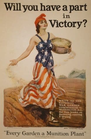 """Vintage WW1 Poster """"Will you have a part in Victory?"""""""