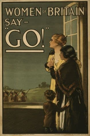 "Vintage WW1 poster. Women of Britain say - ""Go!"""