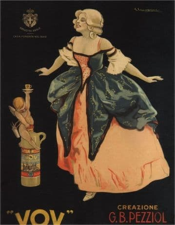 VOV, 1900 Vintage Italian Liquor Advertisement