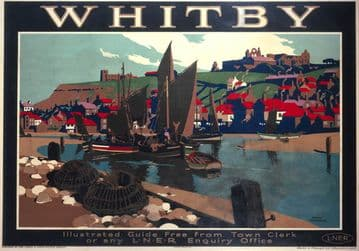 Whitby, Yorkshire. LNER Vintage Travel Poster by Frank Newbould. 1930