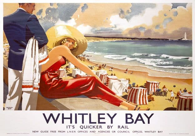 Whitley Bay, Tyne & Wear. LNER Vintage Travel poster by Frank Newbould. 1939