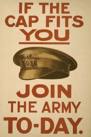 "WW1 Poster ""If the Cap fits you"" Poster"