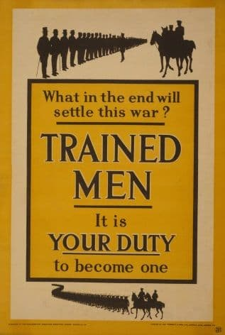 "WW1 ""What in the end will settle this war?"" Poster"