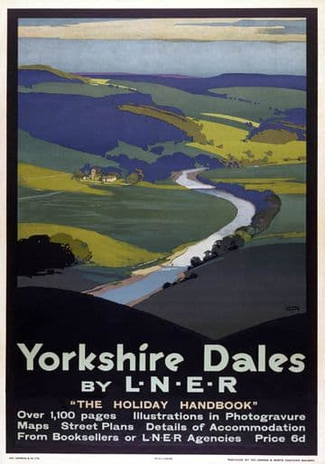 Yorkshire Dales, The Holiday Handbook. LNER Vintage Travel Poster by Austin Cooper