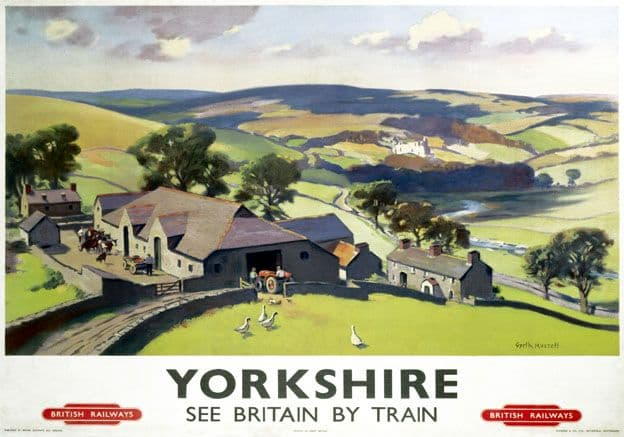 Yorkshire, See Britain by Train. Vintage BR Travel poster by Gyrth Russell. c1950
